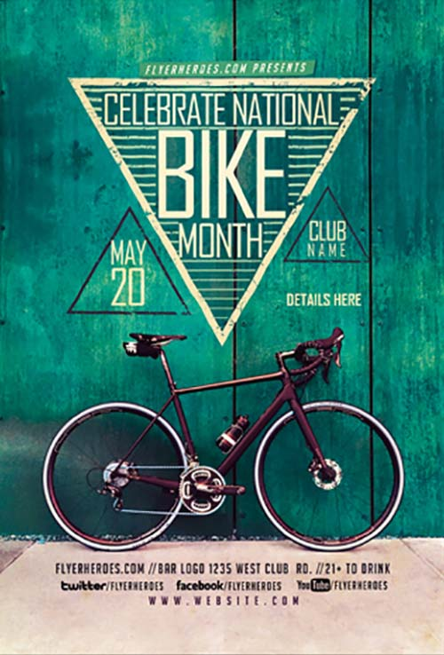 Bike Month Free Flyer Template