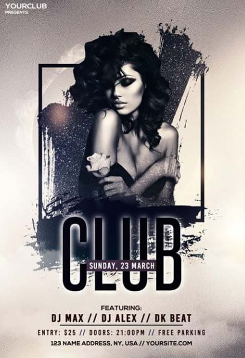 Club and Vibes Free PSD Flyer Template