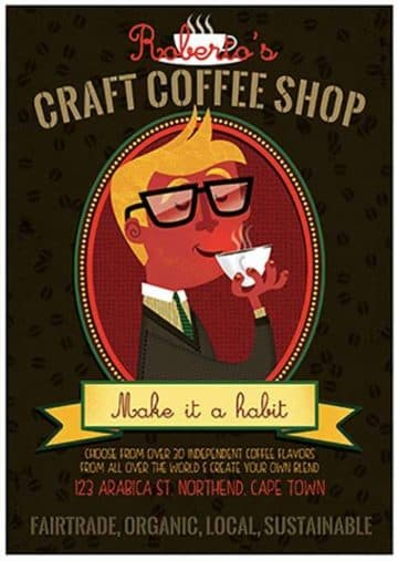 Craft Coffee Free Flyer PSD Template