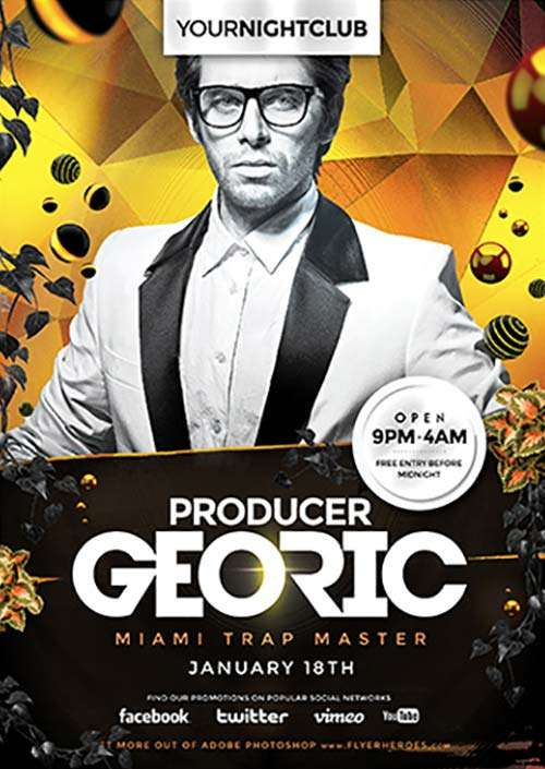 DJ Georic Free PSD Flyer Template