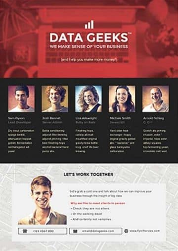 Data Geeks Free PSD Flyer Template