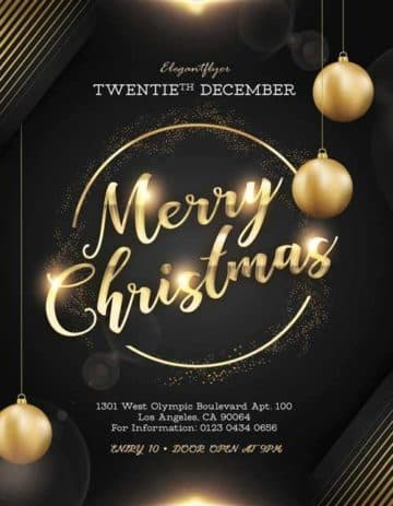 Elegant Christmas Night Free PSD Flyer Template