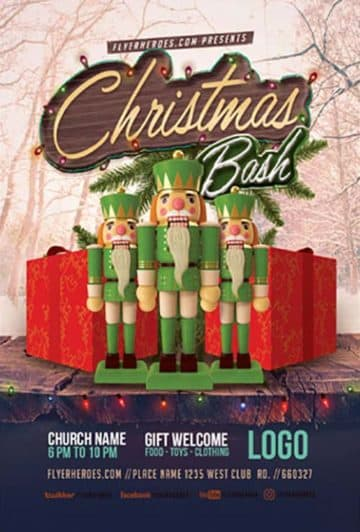Free Christmas Bash PSD Flyer Template