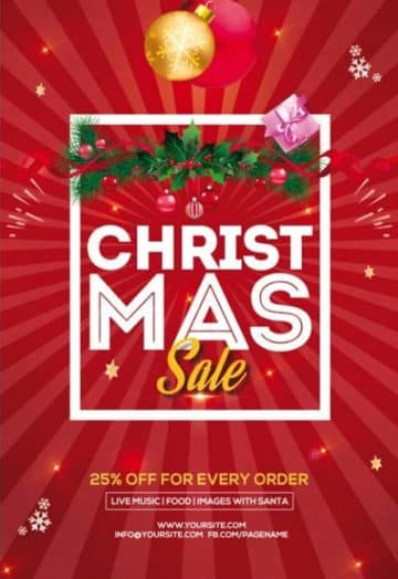 Free Christmas Sale PSD Flyer Template