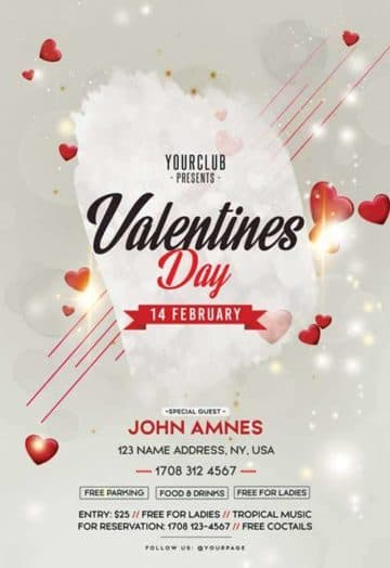 Free Valentines Day Flyer Template