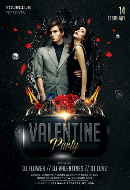 Free Valentines Day Party Event Flyer Template