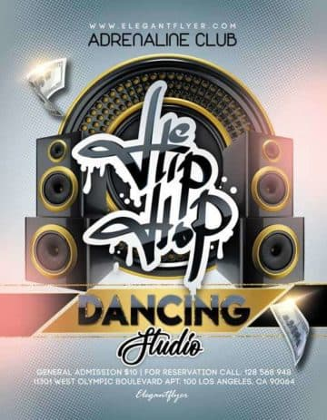 Hip Hop Dance Studio Free PSD Flyer Template