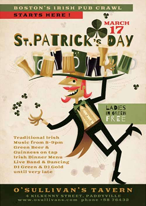 Illustrated St. Patrick's Day Free PSD Flyer Template