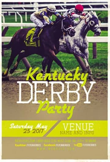 Kentucky Derby Free Flyer Template