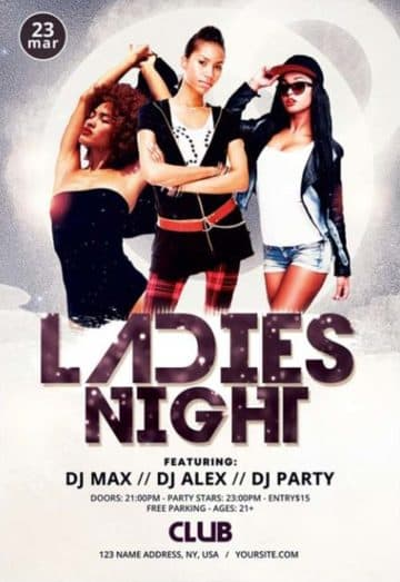 Ladies Night Out Free PSD Flyer Template FreePSDFlyer