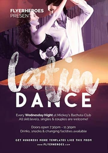 Latin Dance Free Flyer Template