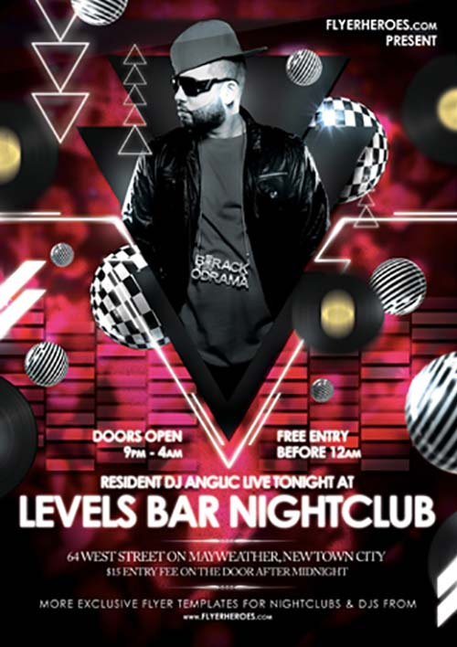 Levels Free Nightclub Flyer Template For Club Party Events