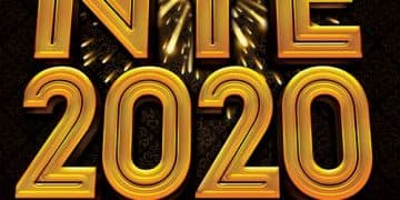 NYE 2020 Free PSD Flyer Template