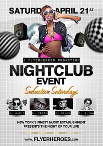 Nightclub Event Free Flyer Template