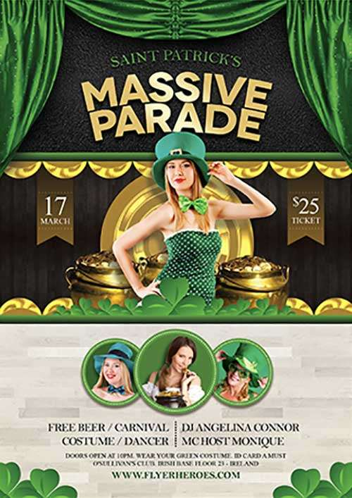 Saint Patrick's Day Parade Free PSD Flyer Template
