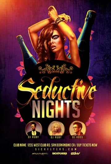Seductive Nights Free Party Flyer Template