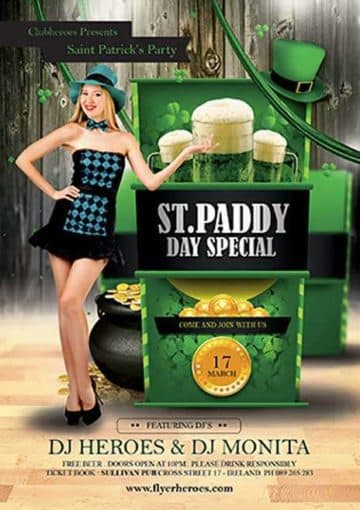 St. Patrick's Day Special Free PSD Flyer Template