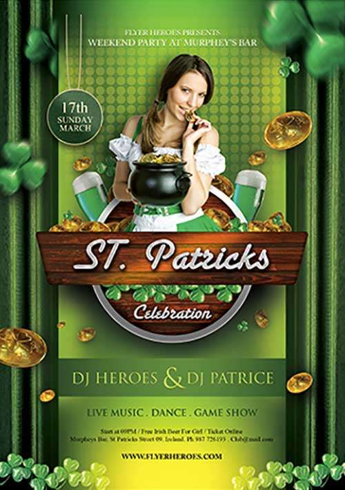 St. Patrick's Day Celebration Free PSD Flyer Template