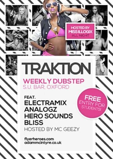 Traktion Club Free Electro Party Flyer Template