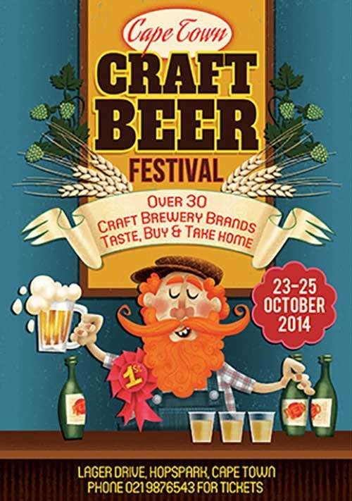 Craft Beer Free Flyer Template
