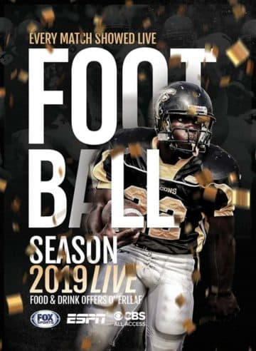 Free American Football Flyer PSD Template