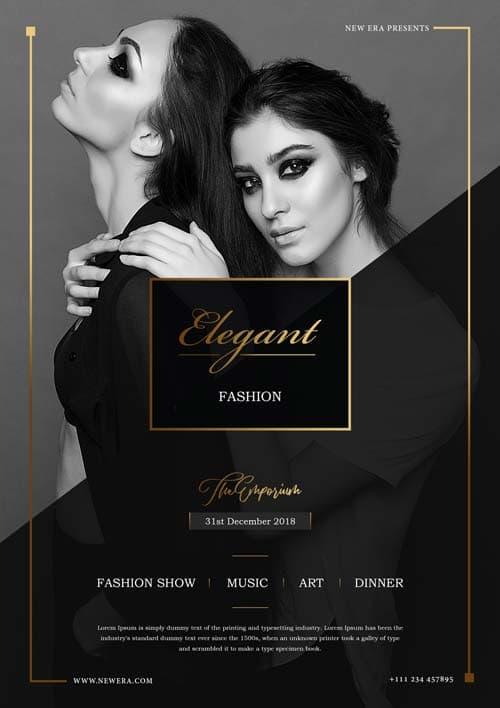 Free Elegant Fashion Flyer PSD Template