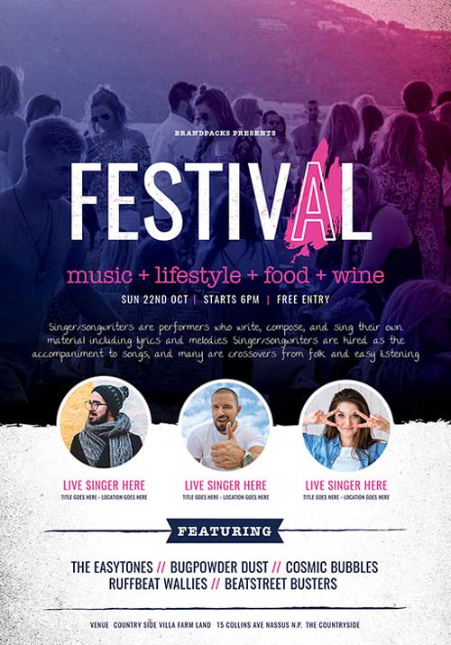 Free Festival and Concert Flyer Template