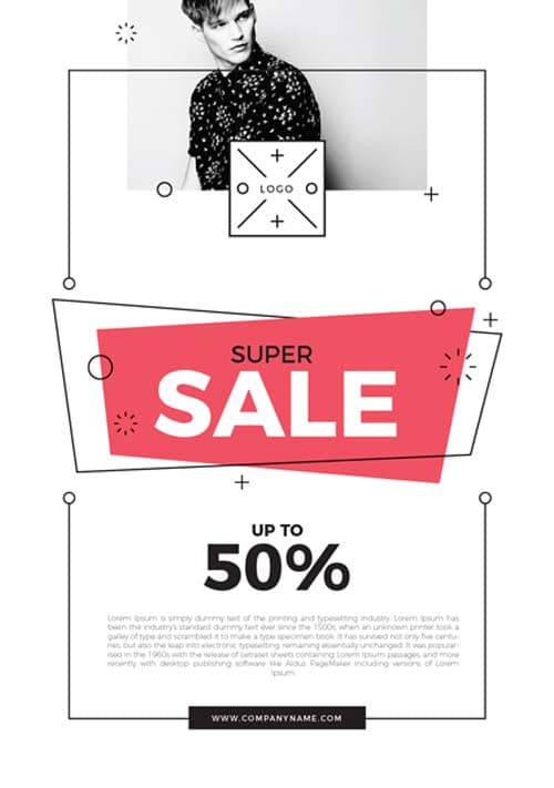 Free Super Sale Flyer PSD Template
