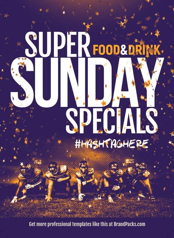 Free Super Sunday Flyer PSD Template