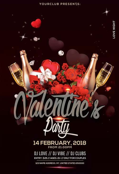 Free Valentines Day Event Flyer Template