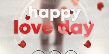 Happy Valentine's Day Party Event Flyer Template