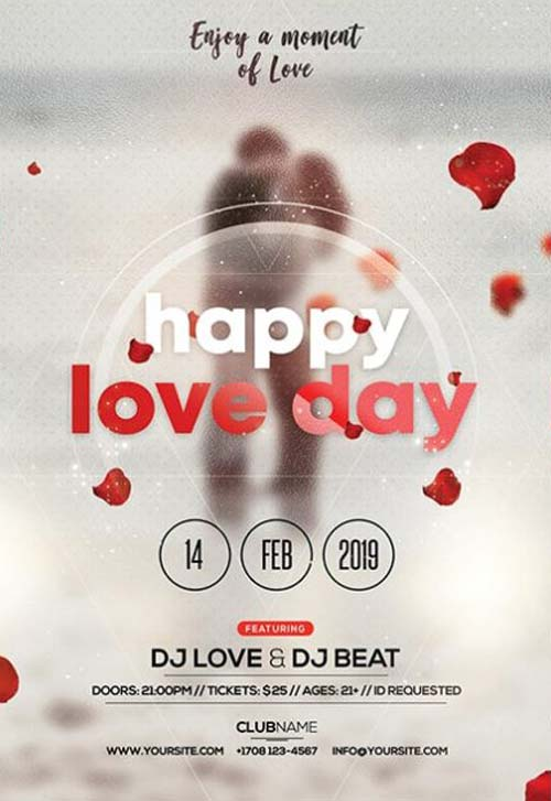 Happy Valentine S Day Party Event Flyer Template Download Psd Flyer