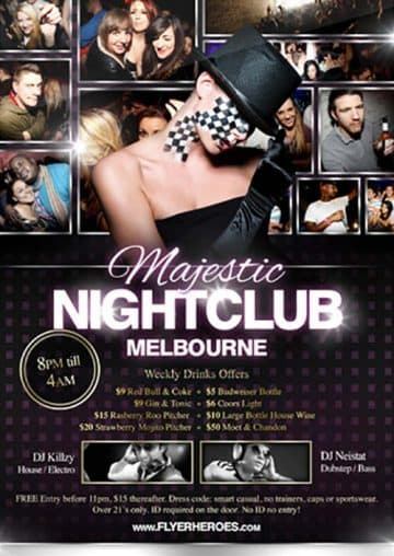 Majestic Nightclub Free Flyer Template