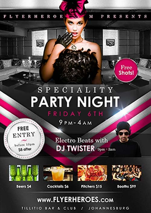 Speciality Party Free Flyer Template