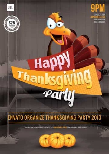 Thanksgiving Party Free Flyer Template