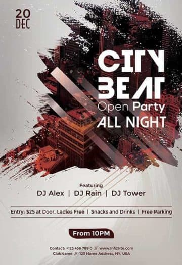 Urban Beats Party Free PSD Flyer Template