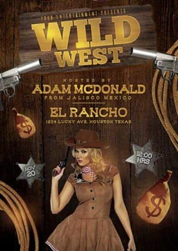Wild West Party Free Flyer Template