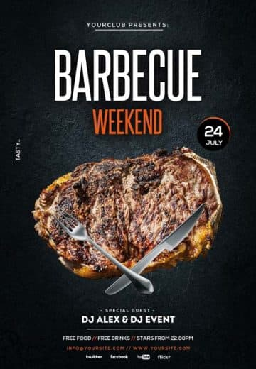 Barbecue Weekend Free Flyer Template