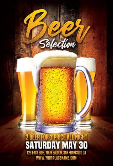 Beer Selection Free Flyer Template
