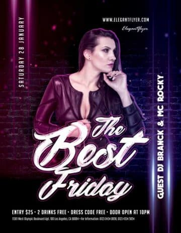 Best Friday Free Party Flyer Template
