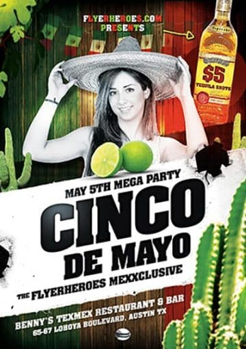 Cinco De Mayo Celebration Free Flyer Template