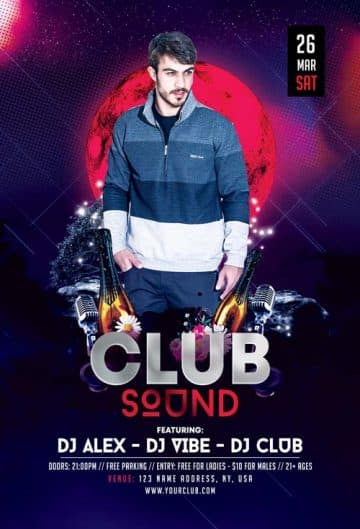 Club Sound Free DJ Flyer Template