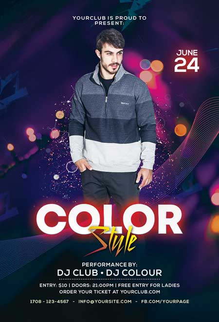 Club Style Free DJ Flyer Template