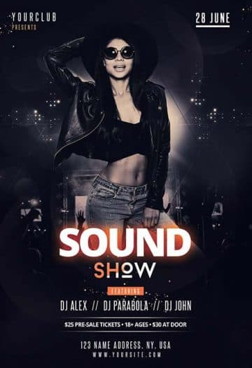 DJ Sound Show Free Club Flyer Template