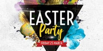Easter Club Party Free Flyer Template