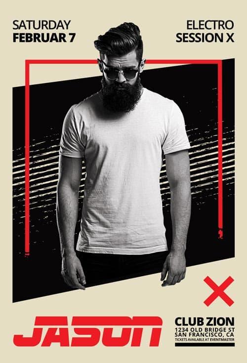 Exclusive DJ Artist Vol 1 Free Flyer Template