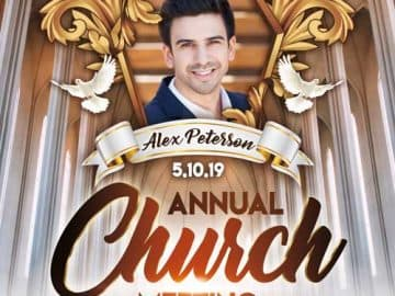 Free Annual Church Meeting Flyer Template