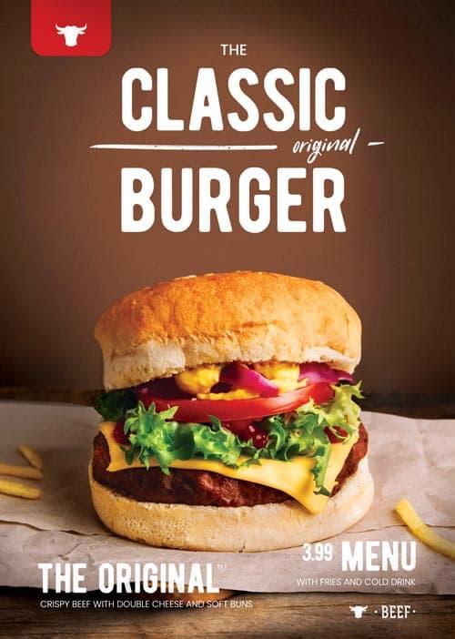 Free Burger Restaurant Flyer Template