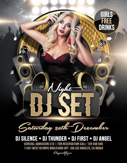 Free DJ Set Night Flyer Template