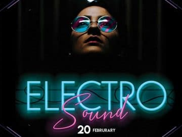 Free Electro Sound DJ Flyer Template